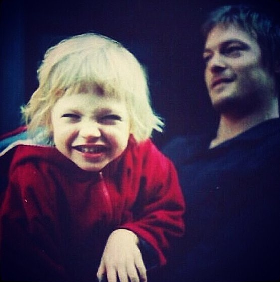 Norman Reedus shared an old photo of him and his son Mingus on Instagram. Source: Instagram user bigbaldhead