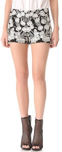 Haute hippie Embellished Threadwork Shorts