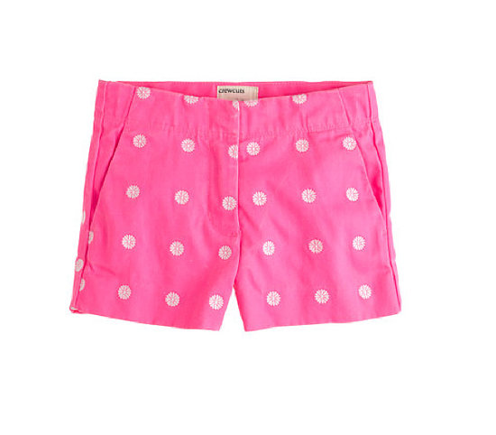 J.Crew Daisy-Embroidered Frankie Shorts