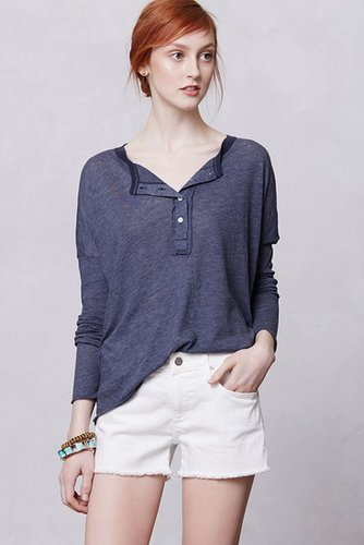 Slouchy Button Henley