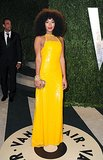 For Vanity Fair's 2013 Oscars afterparty, Solange truly sparked in a yellow sequined Emilio Pucci gown, which she accessorized with a few chunky gold jewels for a touch of edge.