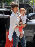 Jessica Alba went to lunch in Beverly Hills with her daughter Haven Warren.