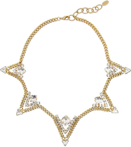 Elizabeth Cole Gold-plated Swarovski crystal necklace