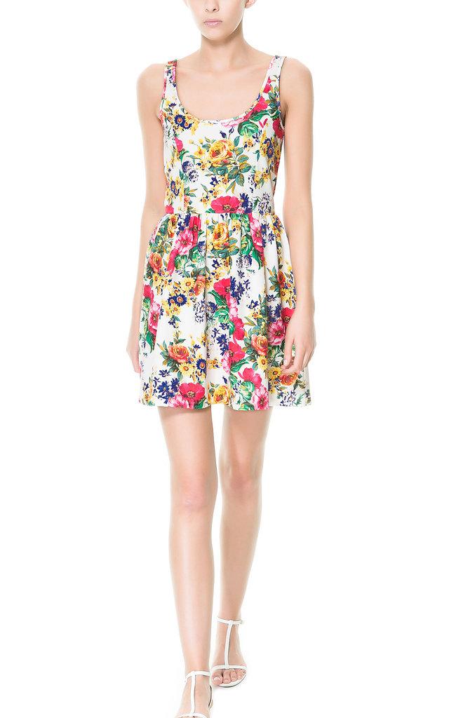 Brighten up your Summer work wardrobe with Zara's cheerful floral dress ($40).