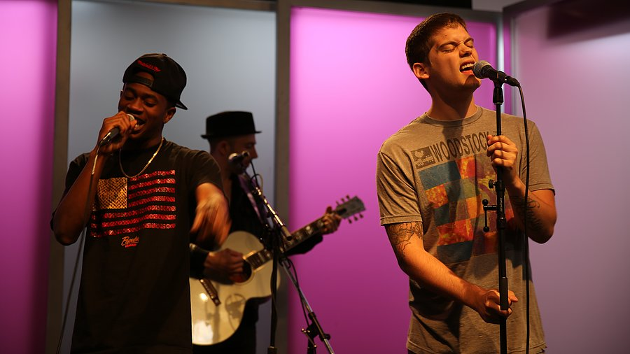 "Watch MKTO Perform Their Summer-Ready Single ""Thank You"" and Talk Their ""Unique"" Sound"