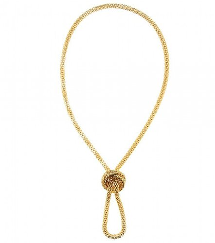 Lara Bohinc ROSETTA CHAIN-LINK NECKLACE WITH A KNOT