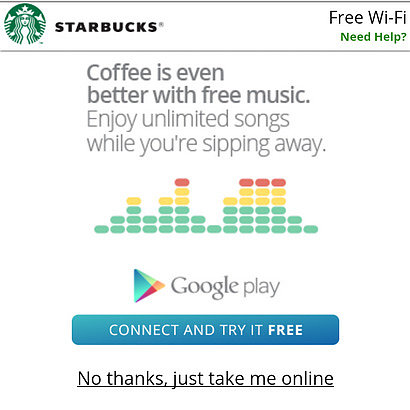 Google Play All Access at Starbucks