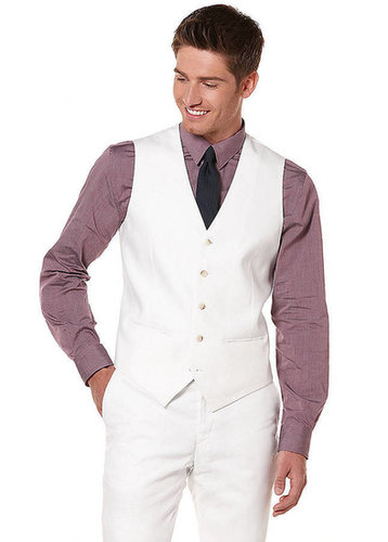 PERRY ELLIS Linen-Blend Suit Vest