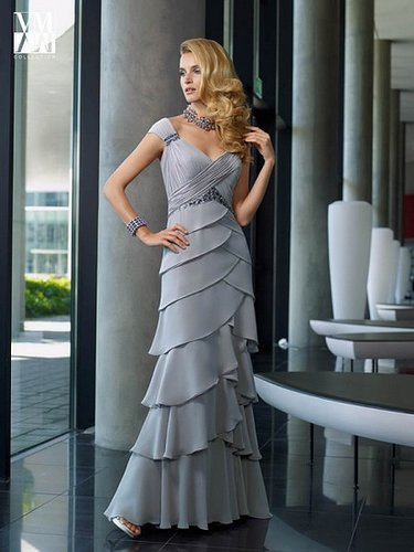 A-Line Mother of the Bride Dress with off the shoulder straps ML70504