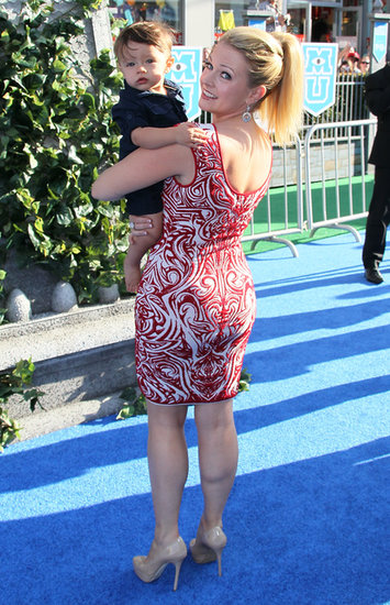 Melissa Joan Hart carried son Tucker.
