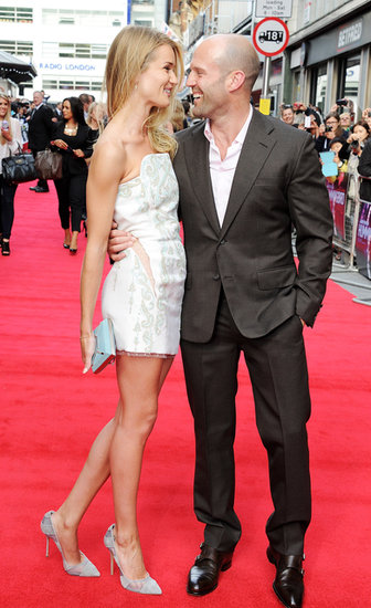 Rosie Huntington-Whiteley joined her boyfriend, Jaston Statham, at his Hummingbird premiere in London.