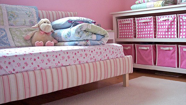 An Upholstered Toddler Bed