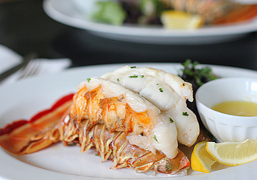 Steam-Baked Lobster Tails