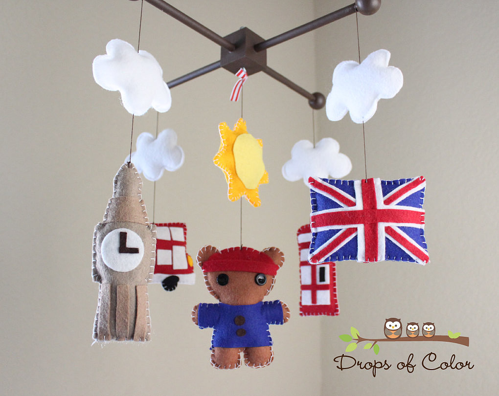 Drops of Color's Dream About London mobile ($85) is the perfect nursery accessory for little Anglophiles.