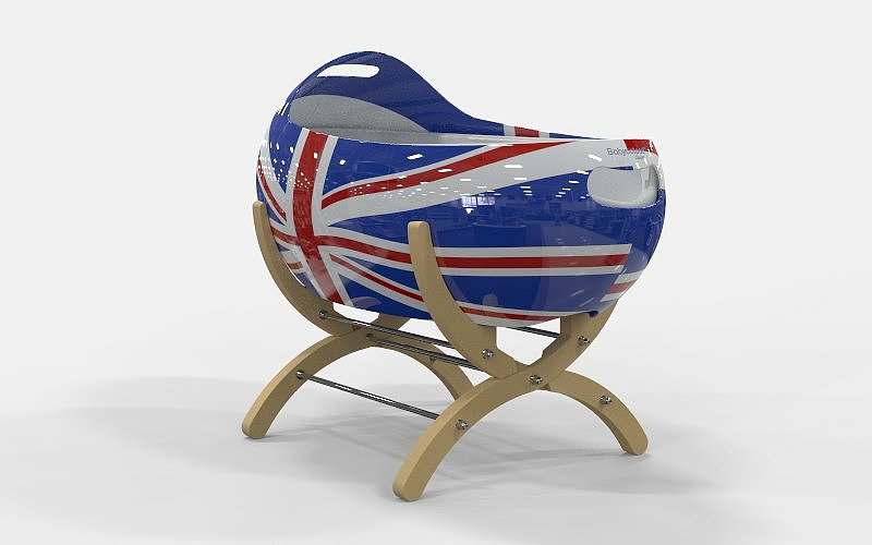 Babycotpod's Cascara bassinet made waves for its bean-like design when it first hit the market. The Union Jack Cascara ($736) is sure to be a conversation piece if it's standing in your (or the royal baby's) home.