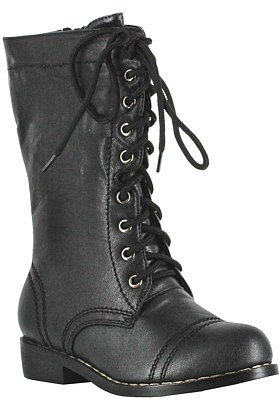 Combat Child Boots Black