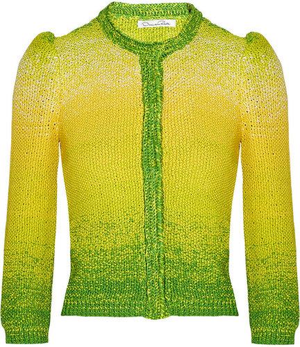 Oscar de la Renta Hand-knitted silk cardigan