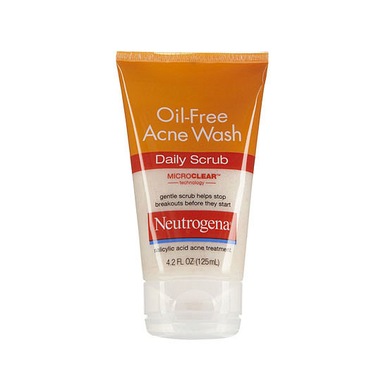 Use Neutrogena Oil-Free Acne Wash Daily Scrub ($6, originally $7) to help stop breakouts before they start.