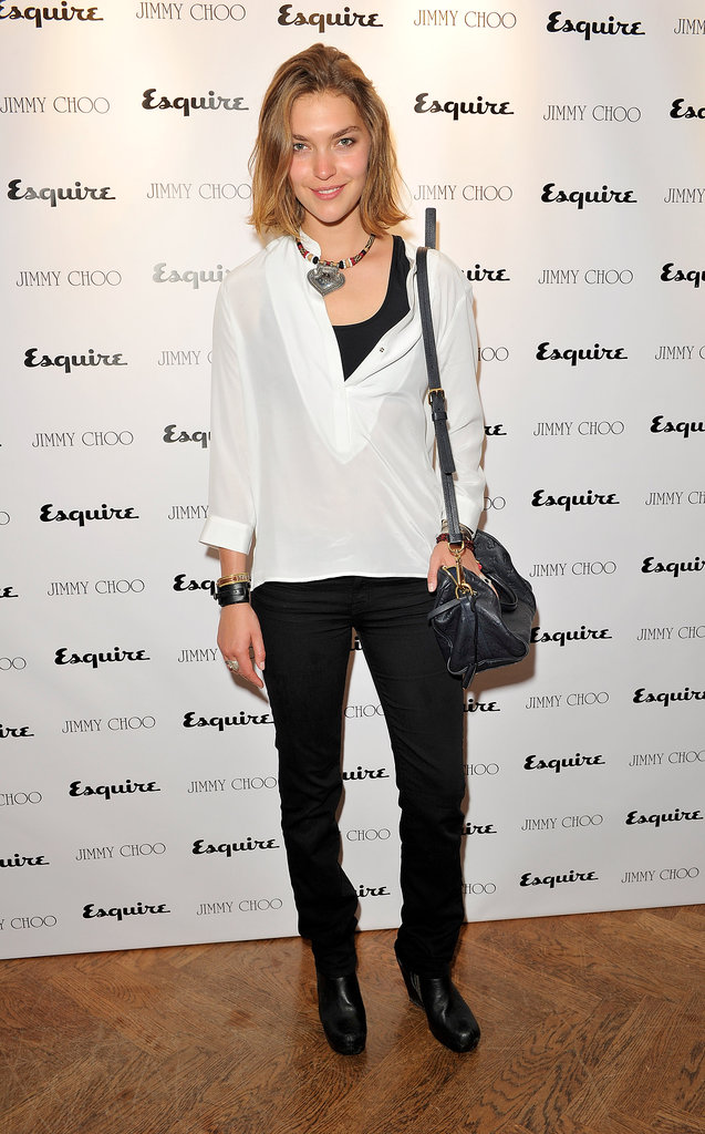 Arizona Muse at the Jimmy Choo and Esquire celebration for the launch of London Collections: Men in London.
