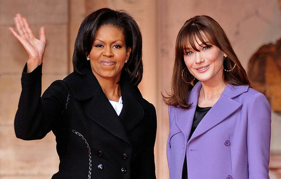 Michelle Obama and French First Lady Carla Bruni-Sarkozy visited a museum in Strasbourg together in April 2009.