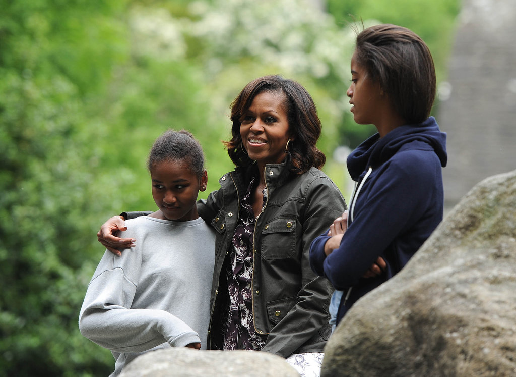 Michelle, Sasha, and Malia Obama kept things casual during a June visit to the Wicklow Mountains National Park in Ireland.