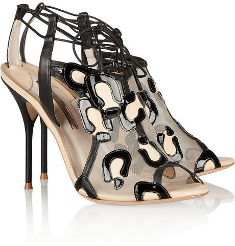 Sophia Webster Blake patent, leather and mesh sandals