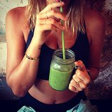 10am Green juice. Kale, spinach, apple, celery, cucumber, lemon and ginger. Source: Instagram user mslbingle