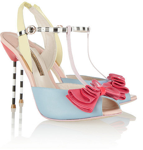 Sophia Webster Vivi patent-trimmed leather sandals