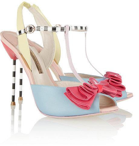 Sophia Webster Vivi patent-trimmed leather sandals