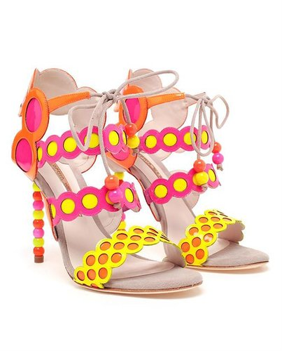 SOPHIA WEBSTER Patent Leather Fluro Sandals