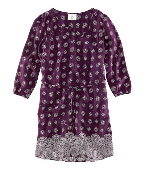 The relaxed fit of this H&M option ($30) reminds us of a Summer-friendly caftan, but the print and eggplant shade keep it professional enough for the office.
