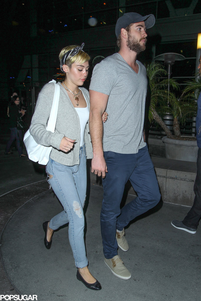 Miley Cyrus and Liam Hemsworth were photographed together on a dinner date in LA for the first time since January.