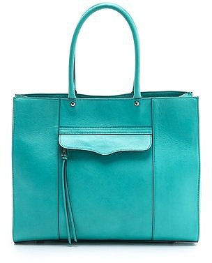 Swap out your heavy black leather handbag for a bright flash of color you can tote around on this Rebecca Minkoff MAB bag ($295).
