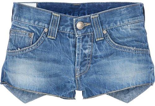 Dondup asymmetric micro denim shorts
