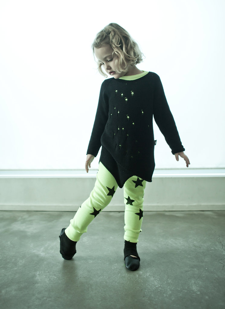 Distress Sweater and Star Leggings