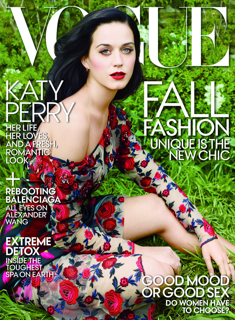 Katy Perry covers US Vogue's July issue.