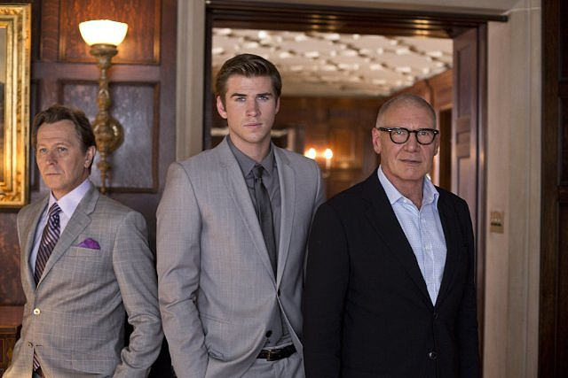 Paranoia  Who's starring: Liam Hemsworth, Gary Oldman, and Harrison Ford Why we're interested: It's exciting to see Hemsworth take on a leading role for this espionage thriller, which also features a solid supporting cast with Josh Holloway and Amber Heard. When it opens: Aug. 16 Watch the trailer for Paranoia.  Source: Relativity Media