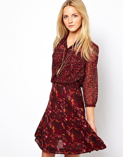 French Connection September Flower Flared Dress