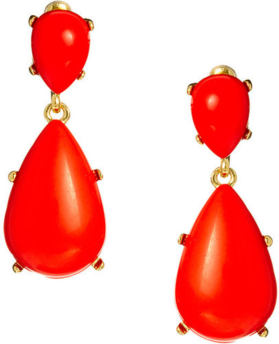 Kenneth Jay Lane Statement Pear Earrings