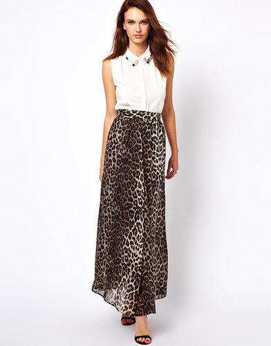 A Wear Leopard Print Maxi Skirt