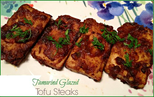 Tamarind Glazed Tofu Steaks
