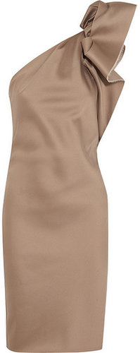 Lanvin Asymmetric duchesse-satin dress