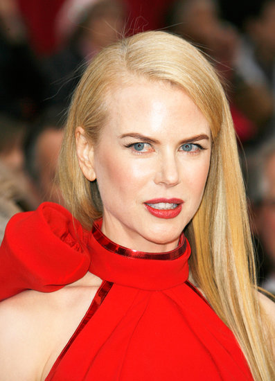 Stepping out at the 2007 Oscars, Nicole opted for a sleek, straight style to balance the drama of her red lipstick and the neckline on her red gown.