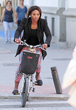 Serena Williams toured Madrid in May on a small bicycle.