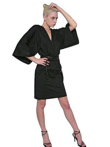 Stretch Cotton Poplin Kimono Dress