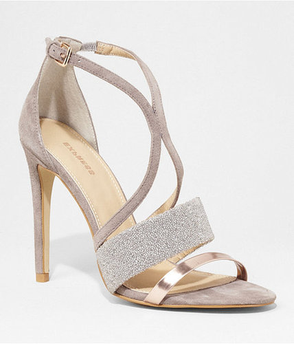 Embellished Kissing Strap Suede Sandal