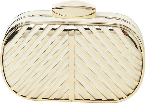 Metal Chevron Box Clutch