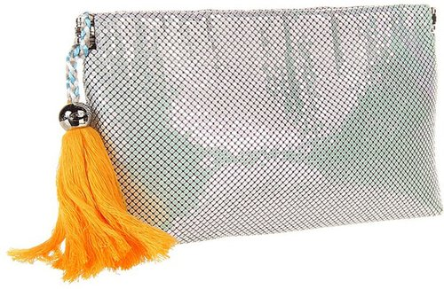 BCBGeneration - LIV Metal Mesh Clutch (Moon Beam) - Bags and Luggage