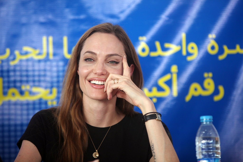 Angelina Jolie traveled to Jordan to meet with refugees for World Refugee Day.