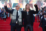 Brad Pitt and Nikita Mikhalkov waved to fans on the red carpet in Russia.